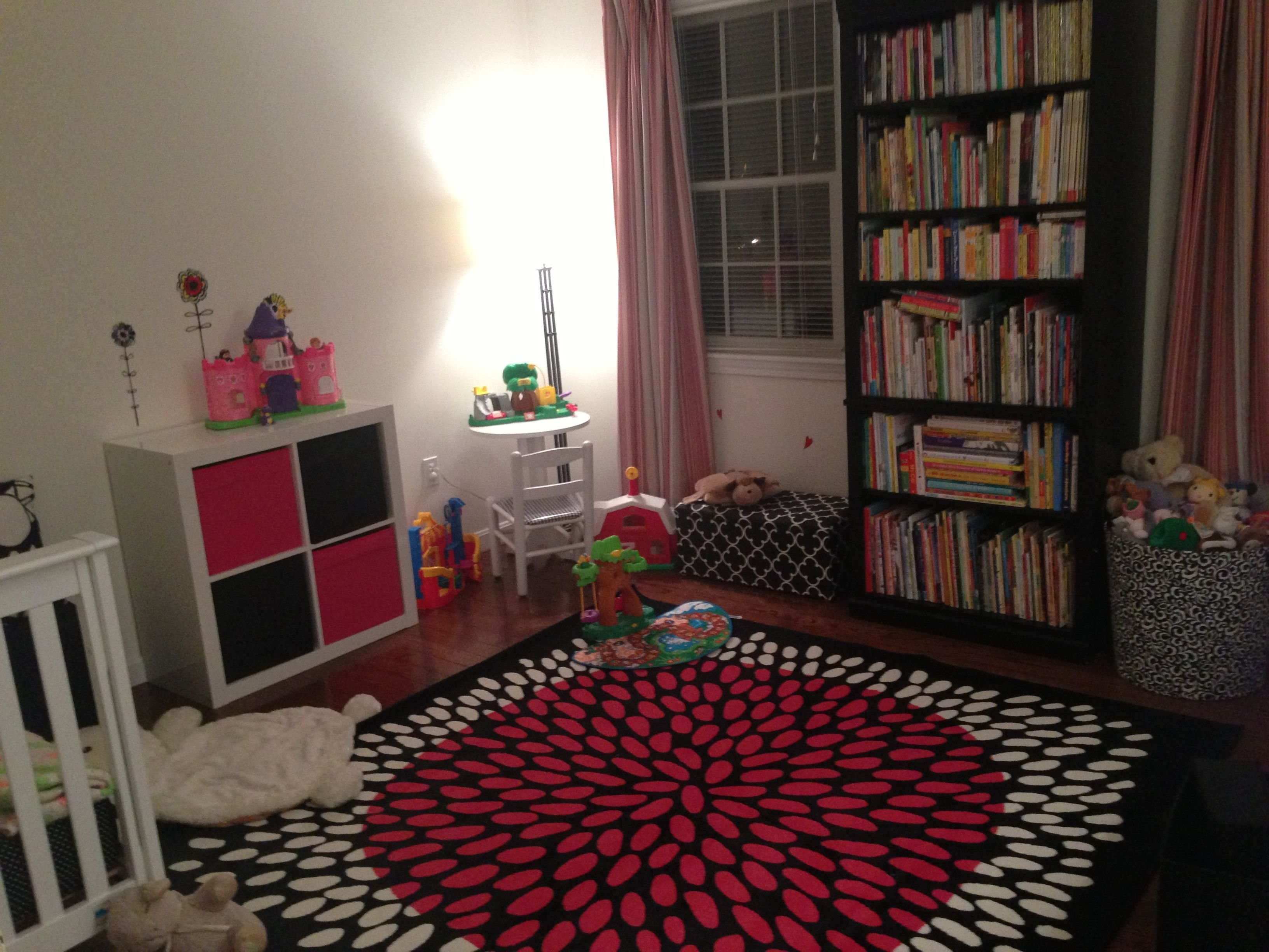 Best Tradklover Rug Expedit Totes Pink And Black Girls Room With Pictures