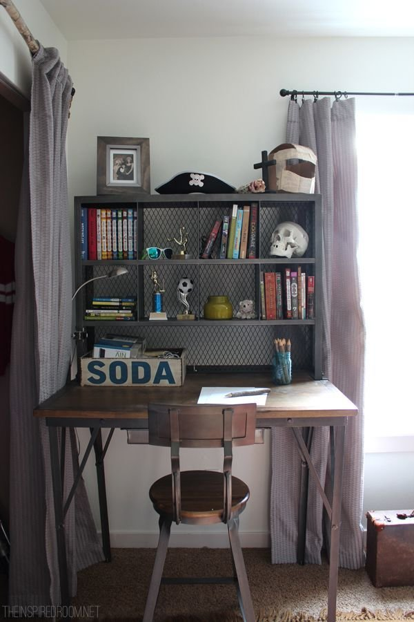 Best T**N Boy S Small Bedroom An Update Industrial Desk With Pictures