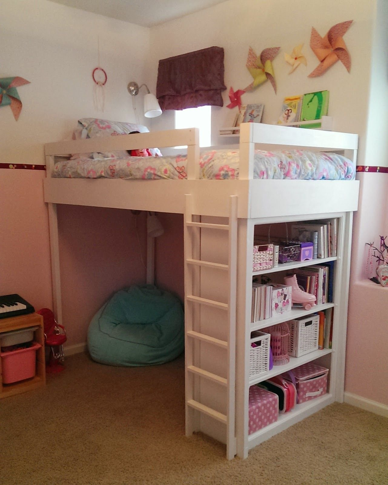 Best Lovely Neighbors Diy Loft Bed For Little Girl S Room With Pictures