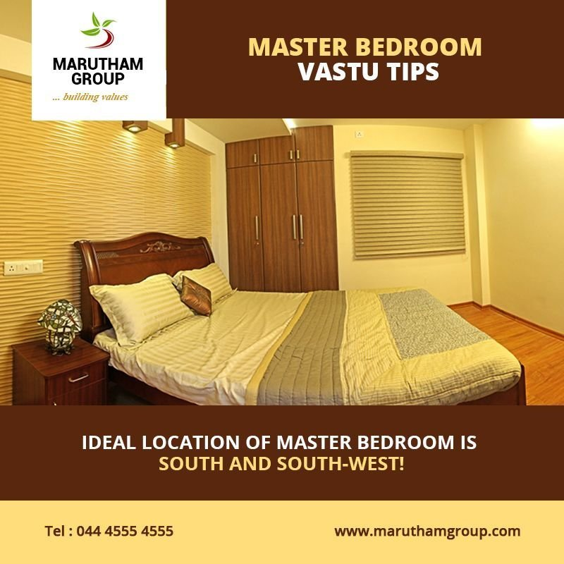 Best Master Bedroom Vastu Tips • The Ideal Location Of A Master Bedroom Is South And South West With Pictures