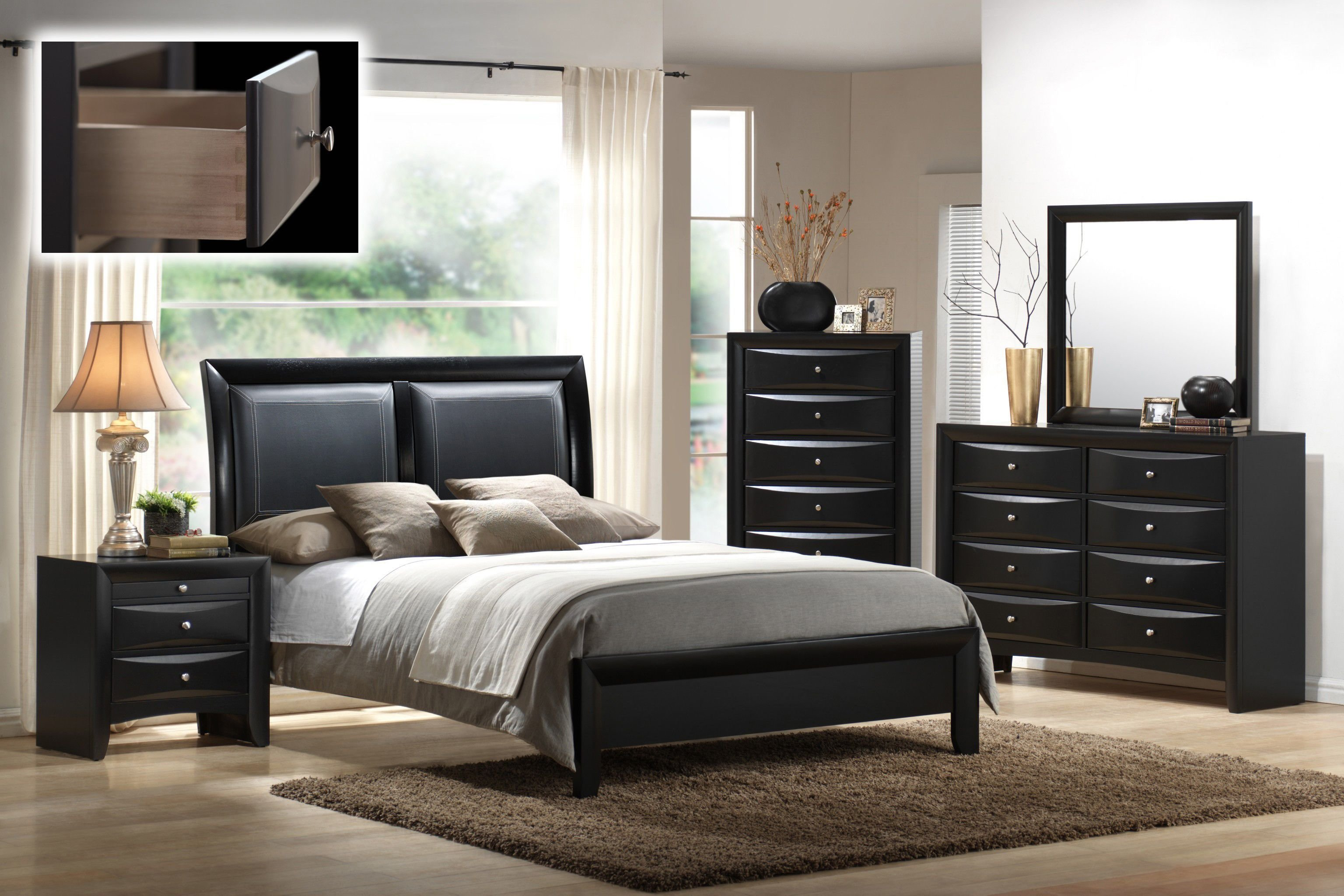 Best Mollai Collection S Emily 6Pc Bedroom Set With Paneled With Pictures