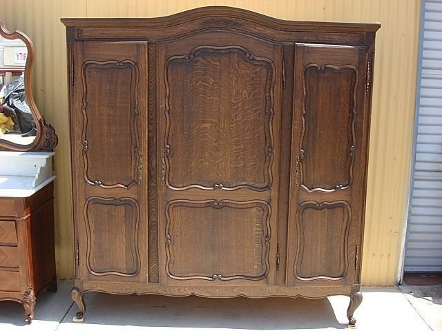 Best French Antique Armoire Wardrobe Antique Closet Cabinet With Pictures