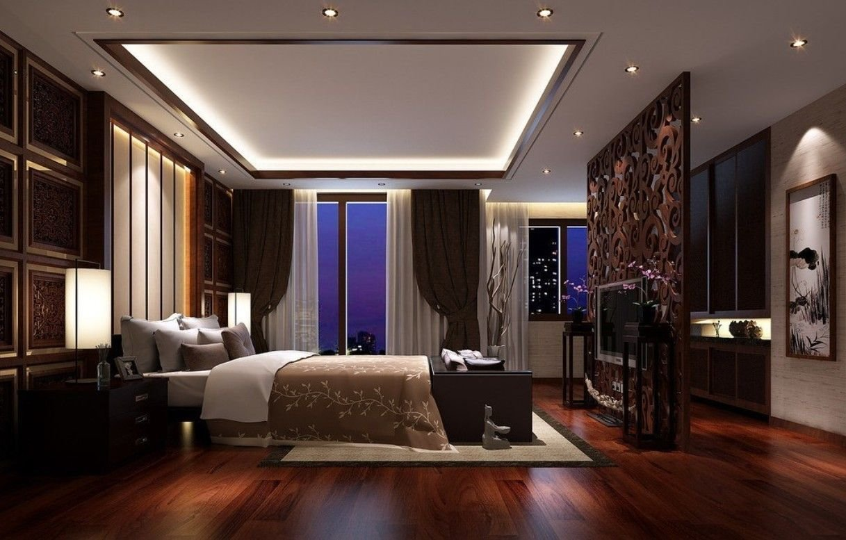 Best Dark Hardwood Flooring Ideas For Bedroom With Pop Ceiling With Pictures