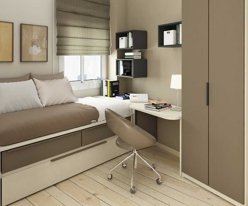 Best Light Brown Small Bedroom Ideas With Single Bed With With Pictures