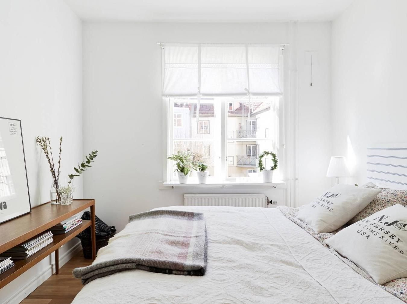 Best Small White Bedroom With Big Cozy Bed And Veiled Side With Pictures
