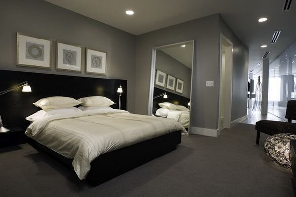 Best Modern Master Bedroom Design Ideas With Black Bedroom Furniture Set And Grey Wall Paint Color With Pictures