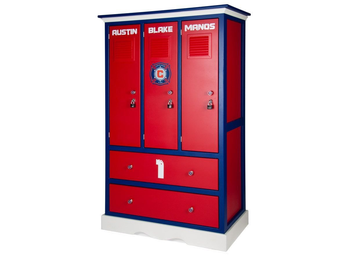 Best Childern S Locker Style Dresser Sports Themed Furniture With Pictures