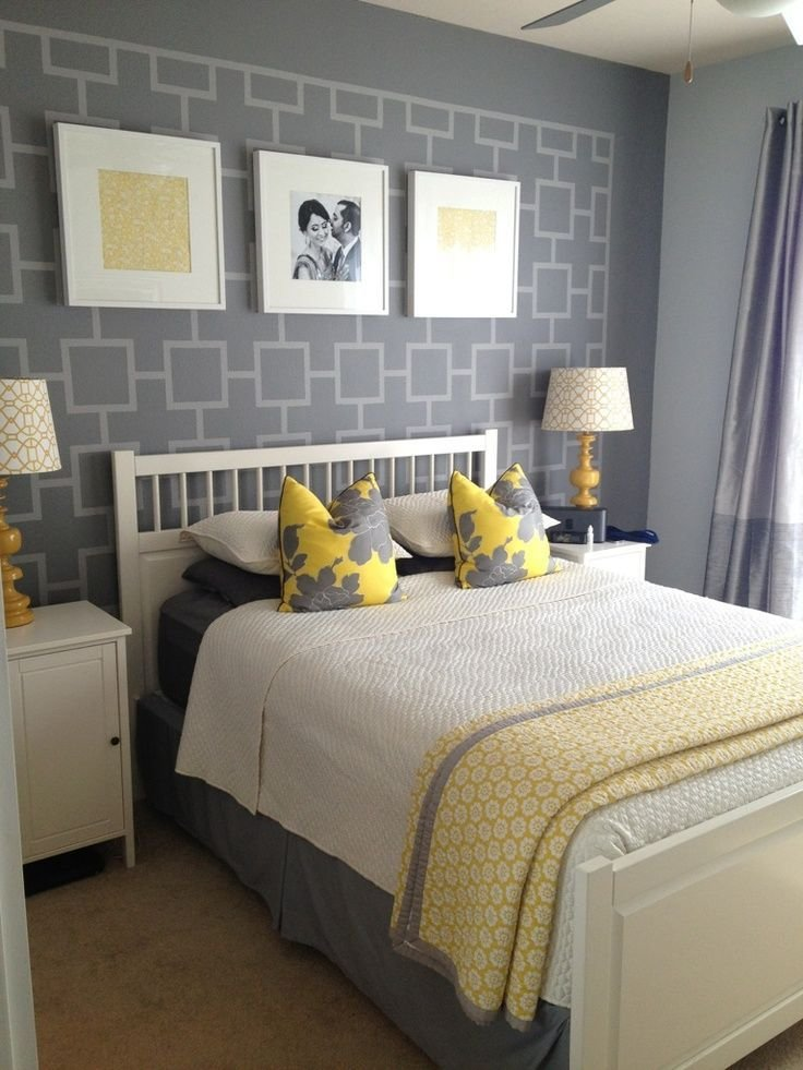 Best Gray And Yellow Bedroom Ideas Another Shot Of Grey And With Pictures
