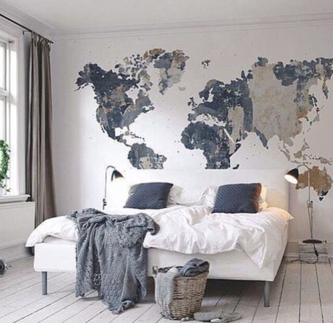 Best Cool Map Mural See Various Wall Mural Designs At Http With Pictures