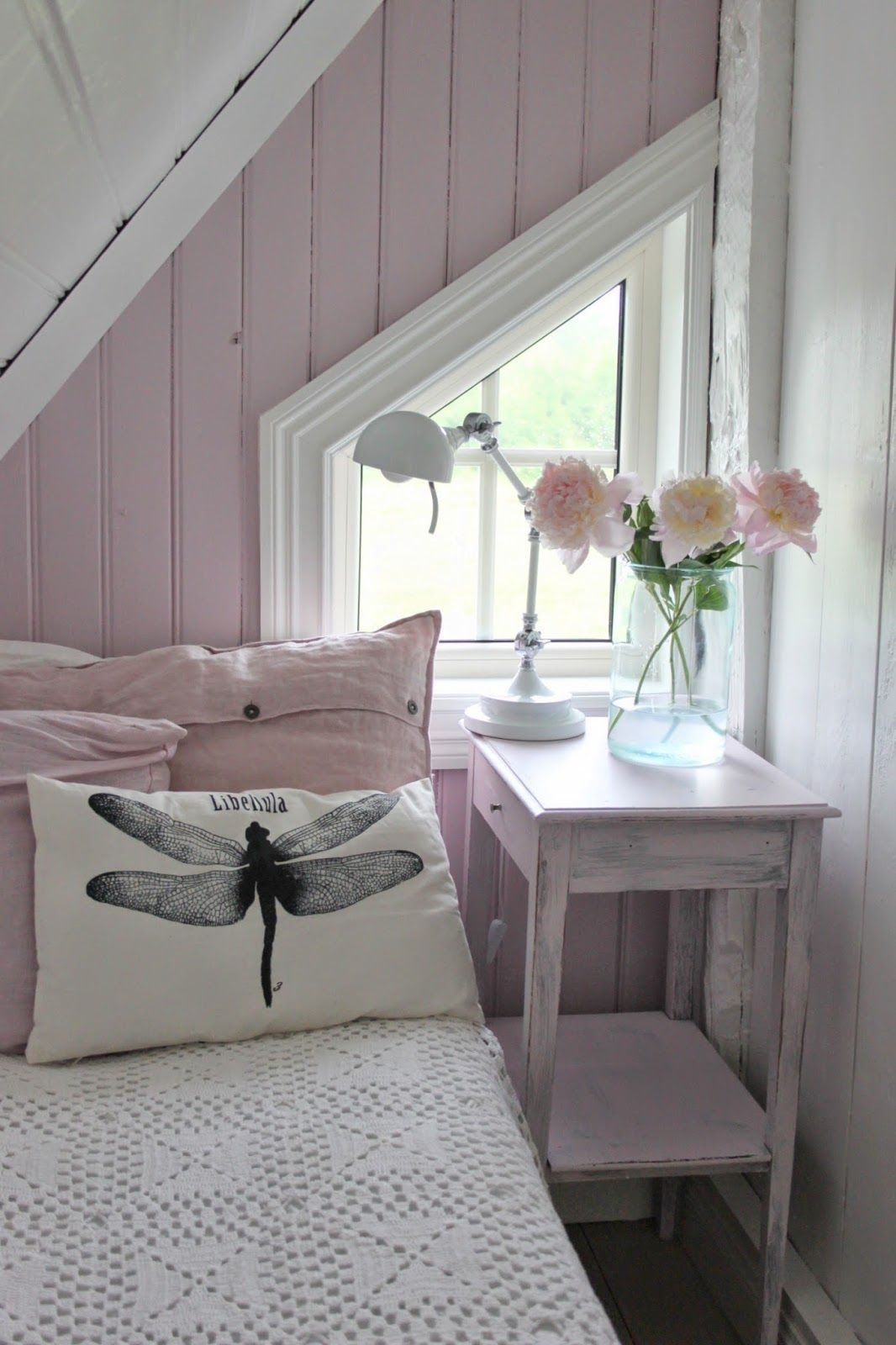 Best Vintage Space Attic Window White Nad Pink Interior With Pictures