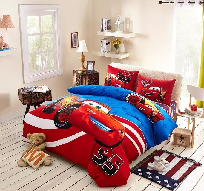 Best Blue And Red Disney Cars Comforter Set Cheap Bedding Sets With Pictures