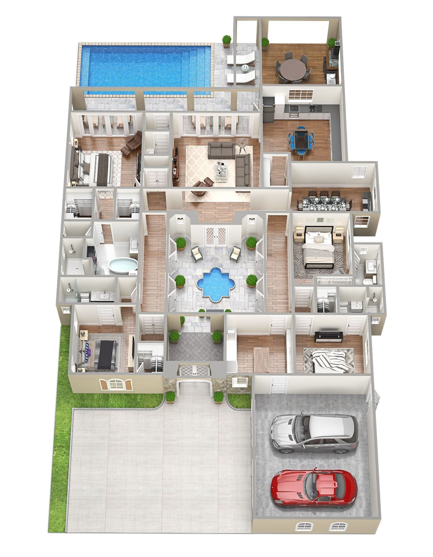 Best Isabella Perfect 3D Floor Plans 4 Bedroom House Plan With Pictures