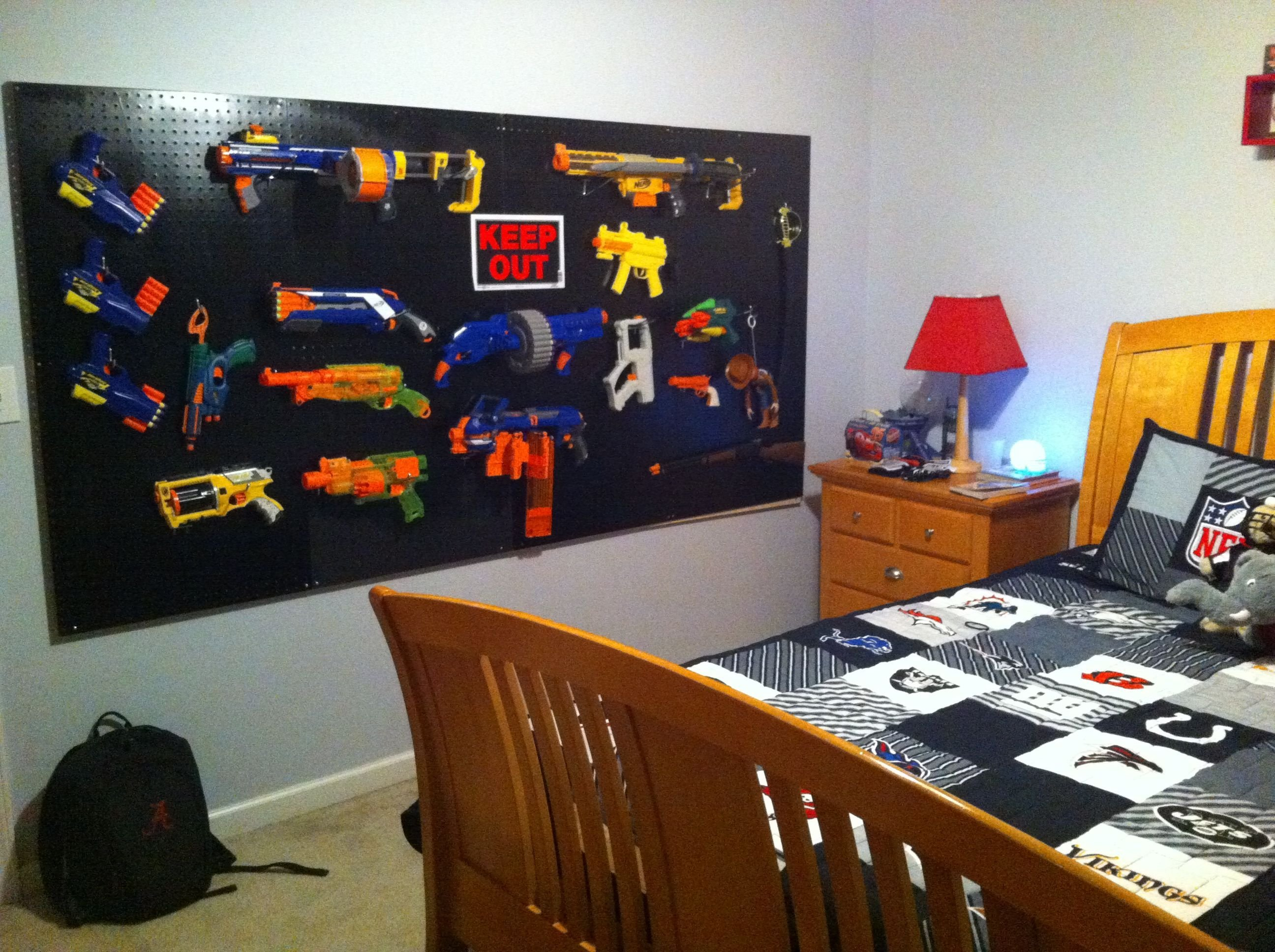 Best Nerf Gun Storage I Like How It Looks Clean And Organized With Pictures