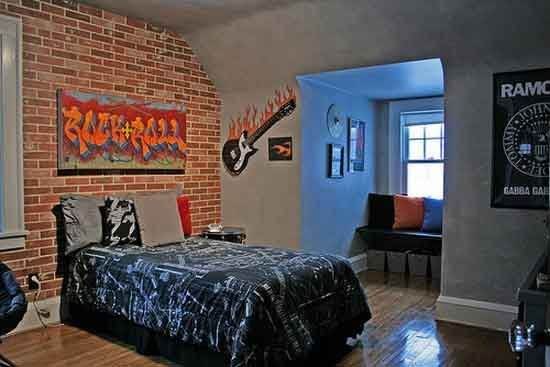 Best Boys Rock And Roll Bedroom Love The Graffiti Sign Idea With Pictures
