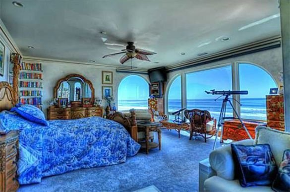 Best Master Bedroom Blue Ocean Theme Beach View House Oceanside With Pictures