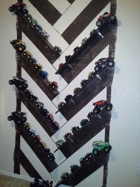 Best Monster Truck Wall My Diy Kids Room Ideas Pinterest With Pictures