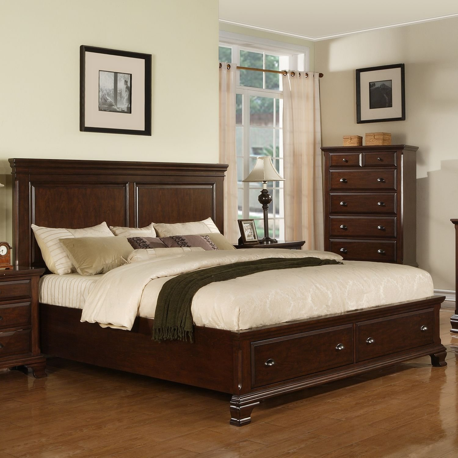 Best Brinley Cherry Storage Bed Choose Size See Best Ideas With Pictures