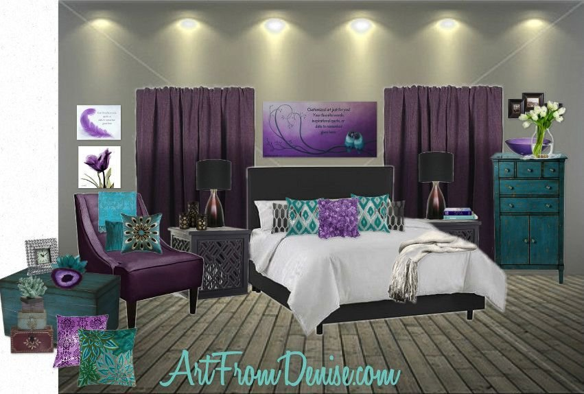 Best Teal Gray And Purple Bedroom Ideas Google Search Re With Pictures