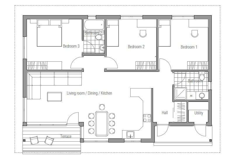 Best Small Affordable House Plan Three Bedrooms Open With Pictures