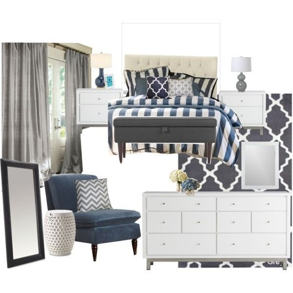 Best Classic Gray And Navy Bedroom Wish The Comforter Was Gray With Pictures
