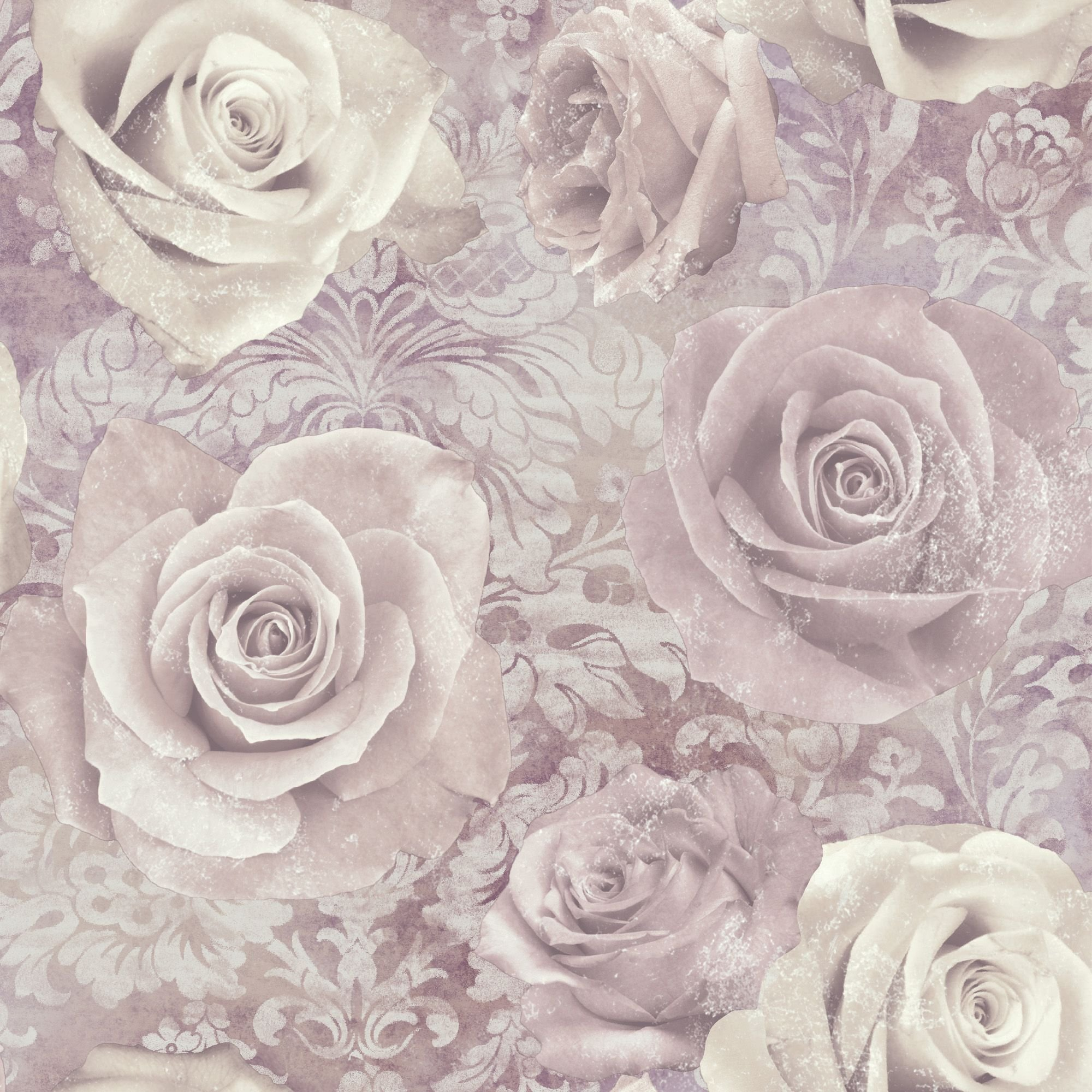 Best Unlimited Reverie Mauve Purple Floral Wallpaper Purple With Pictures