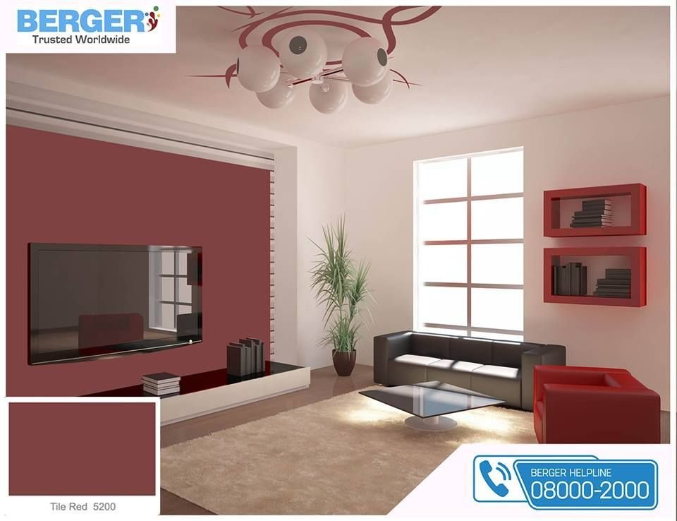 Best Tile Red Paint In Living Room Gives You Relaxation And With Pictures