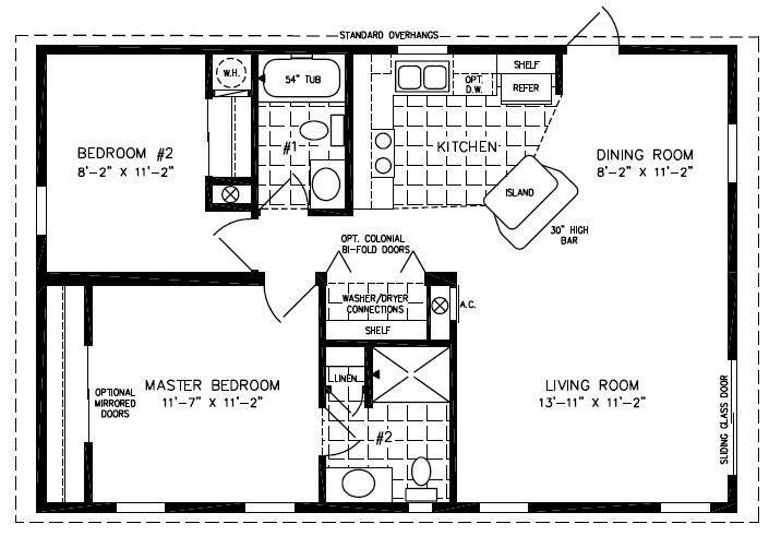 Best Mobile Home Blueprints 3 Bedrooms Single Wide 71 Of With Pictures