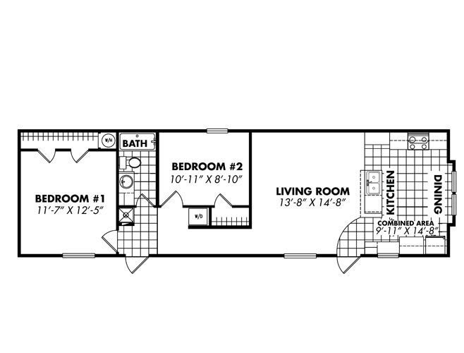 Best Single Wide Floor Plans 16X56 Singlewide Beach Shack With Pictures