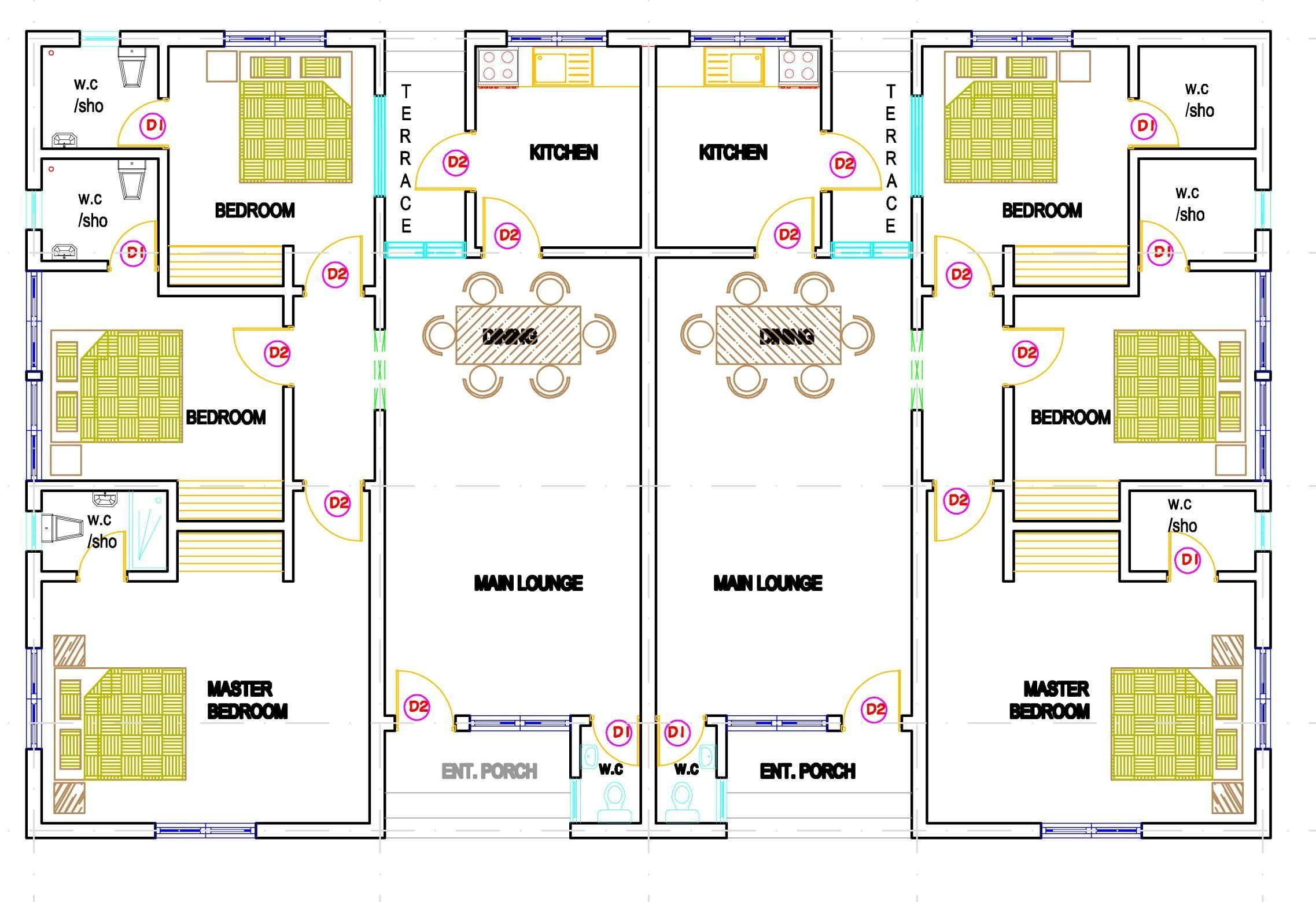 Best House Plans For 2 Bedroom Semi Detached Cottages Szukaj With Pictures