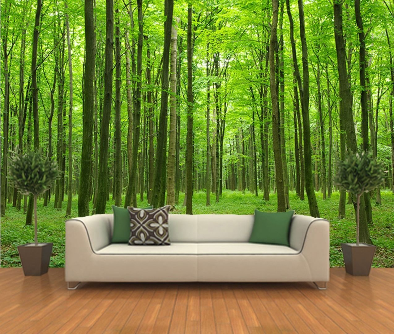 Best Peel And Stick Photo Wall Mural Decor Wallpapers Forest With Pictures
