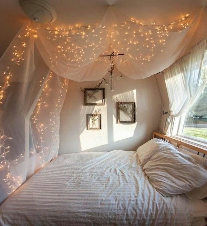 Best 7 Pretty Ways To Use String Lights In The Bedroom Room 510 With Pictures