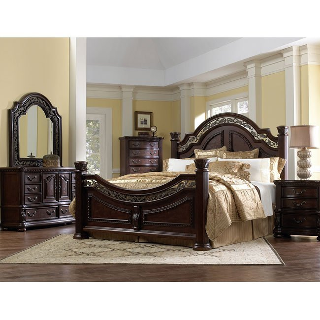 Best San Marino Low Post Bedroom Set By Samuel Lawrence With Pictures