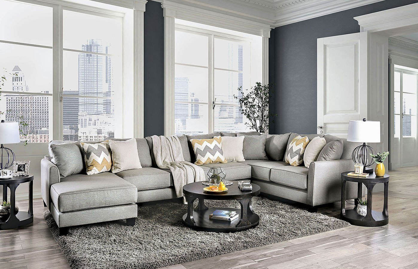 Best Mandurah Sectional By Furniture Of America Furniturepick With Pictures