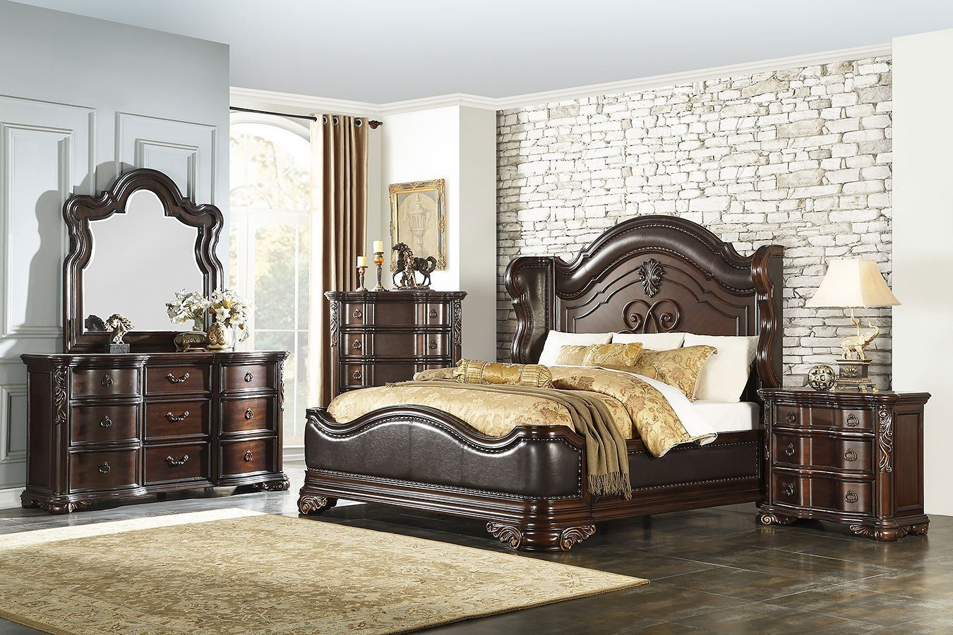 Best Royal Highlands Panel Bedroom Set Homelegance Furniture Cart With Pictures