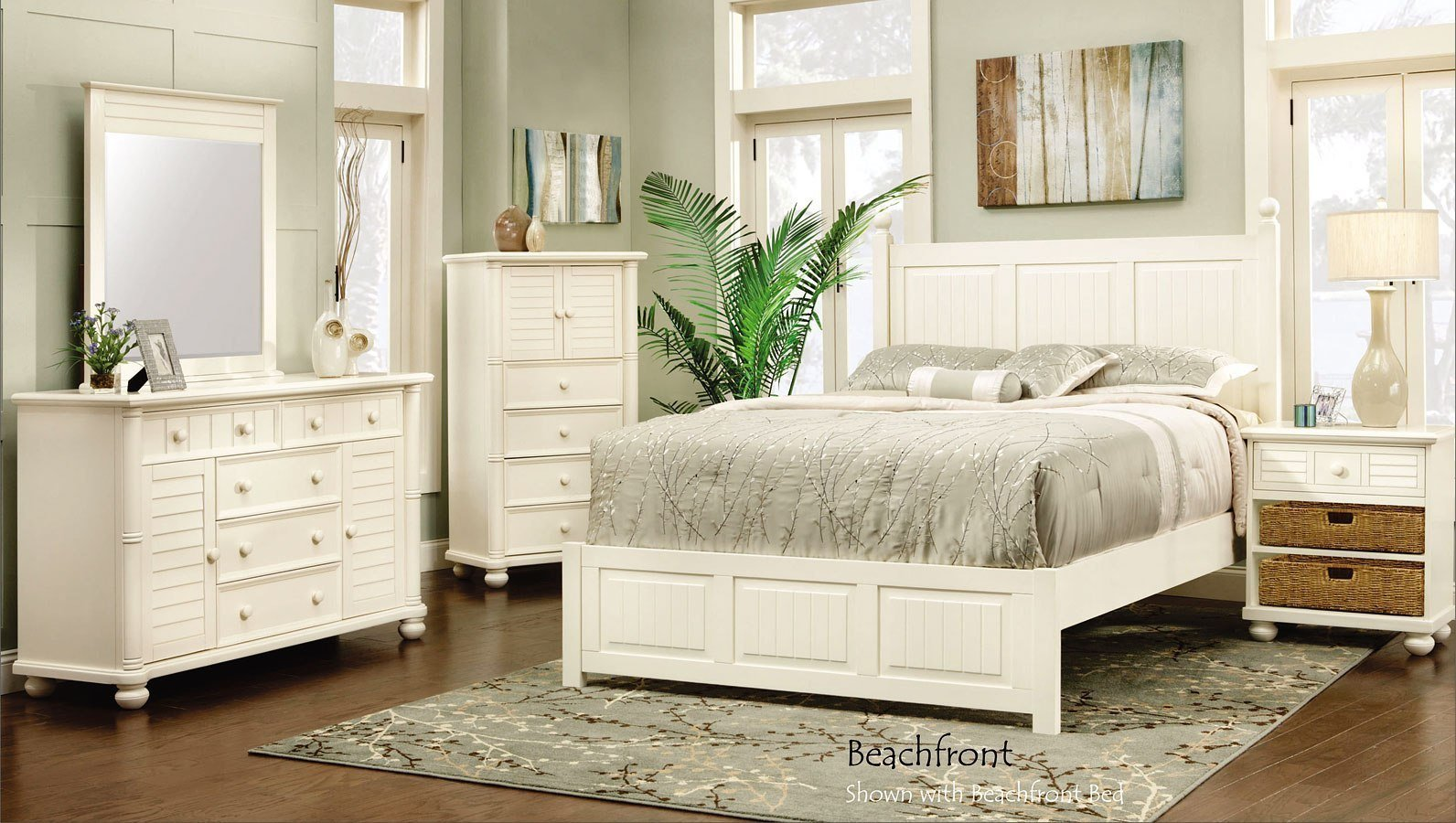 Best Beachfront Panel Bedroom Set Cottage White Cottage Creek With Pictures