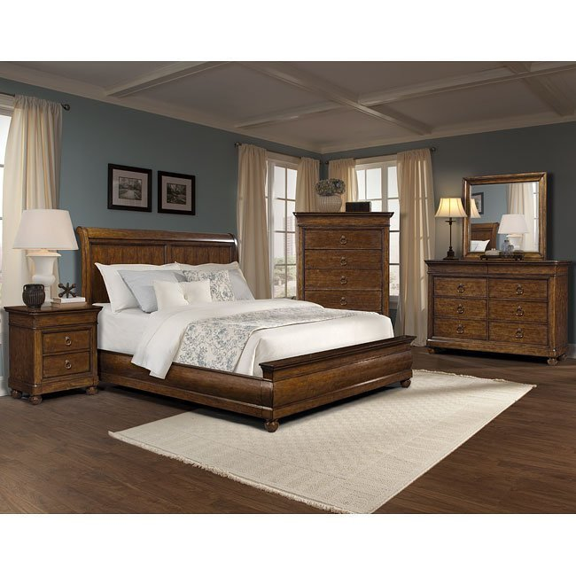 Best Palais Sleigh Bedroom Set Klaussner Furniture Cart With Pictures