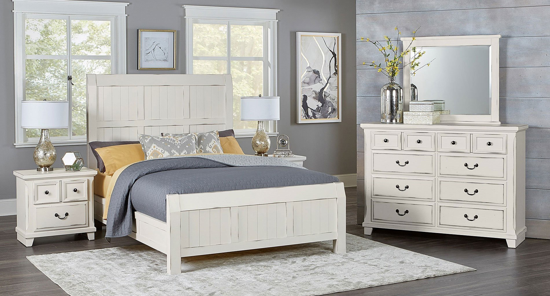 Best Timber Creek Bedroom Set Distressed White Vaughan With Pictures