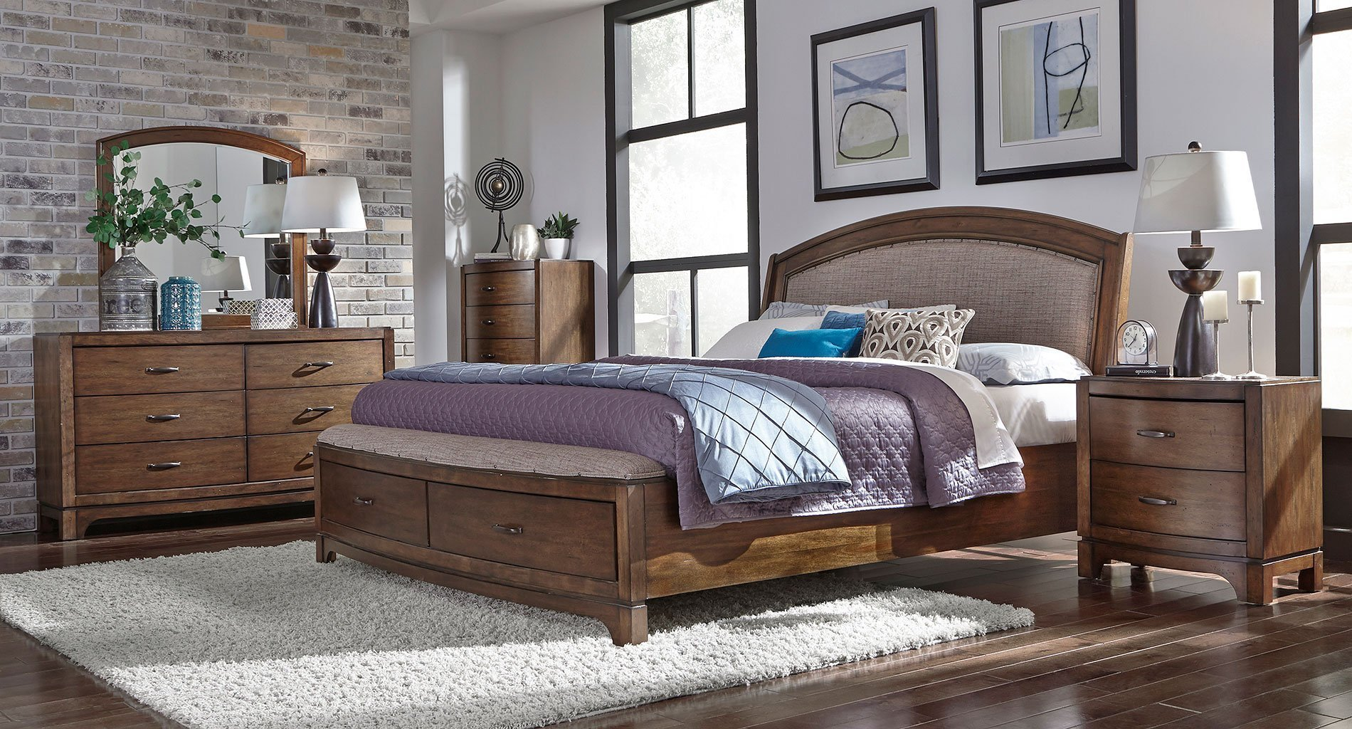 Best Avalon Iii Upholstered Storage Bedroom Set Liberty Furniture 1 Reviews Furniture Cart With Pictures