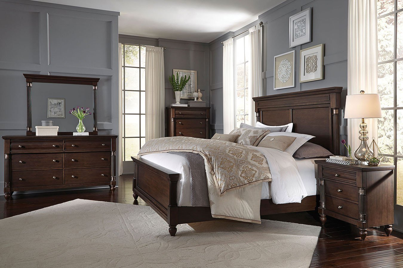 Best Oxford Panel Bedroom Set Standard Furniture Furniture Cart With Pictures