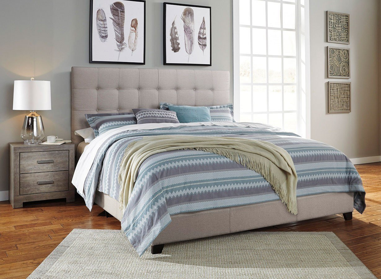 Best Culverbach Bedroom Set W Beige Upholstered Bed Signature With Pictures
