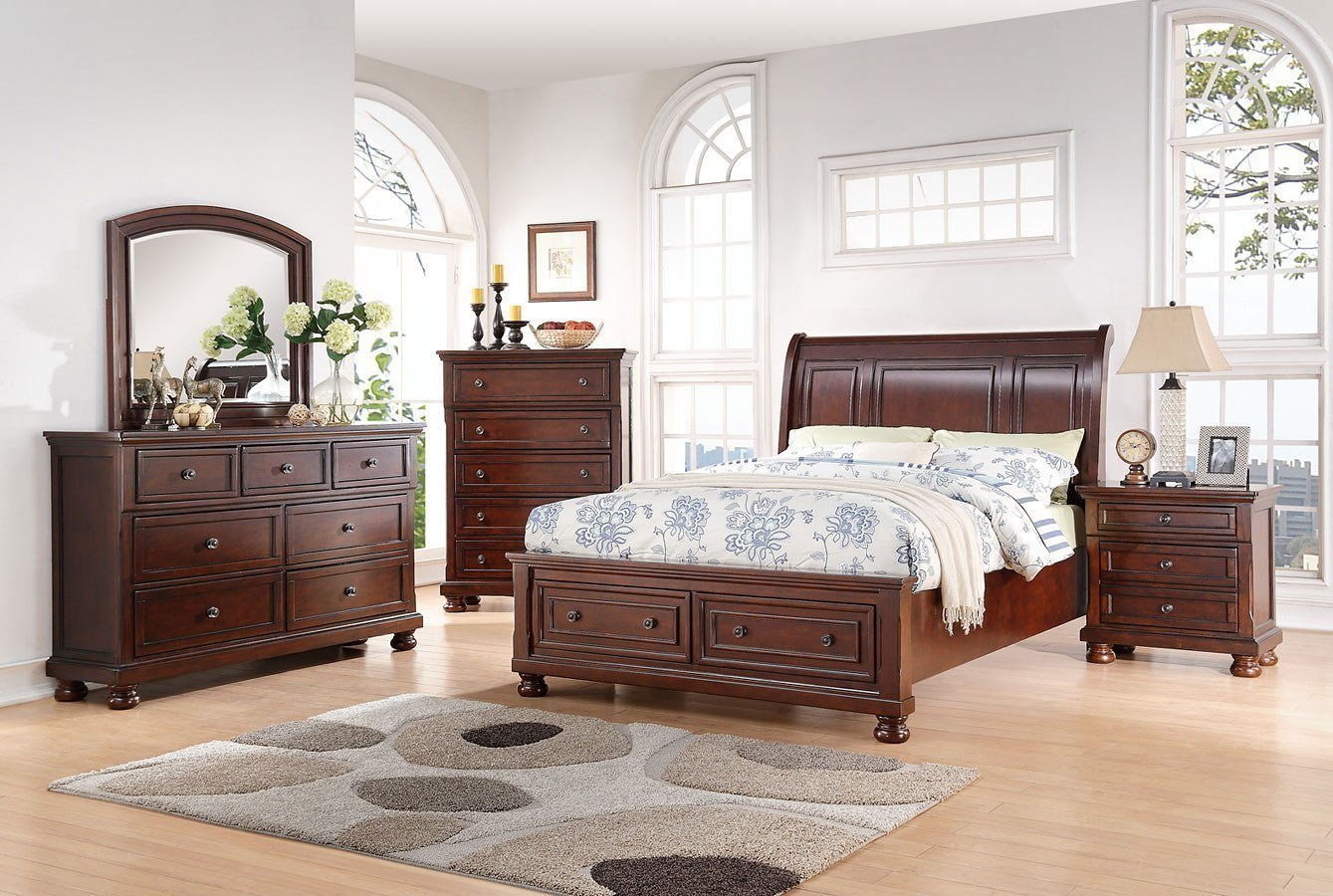 Best Sophia Sleigh Storage Bedroom Set Avalon Furniture With Pictures