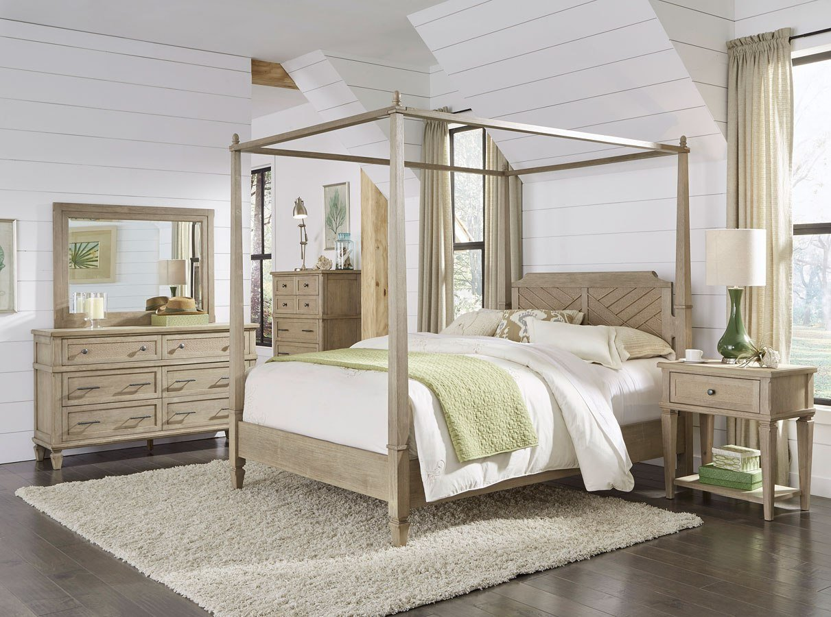 Best Coronado Canopy Bedroom Set Flax Progressive Furniture With Pictures