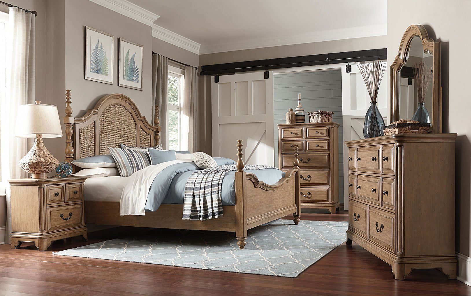 Best Cloverton Cove Seagrass Poster Bedroom Set Magnussen With Pictures