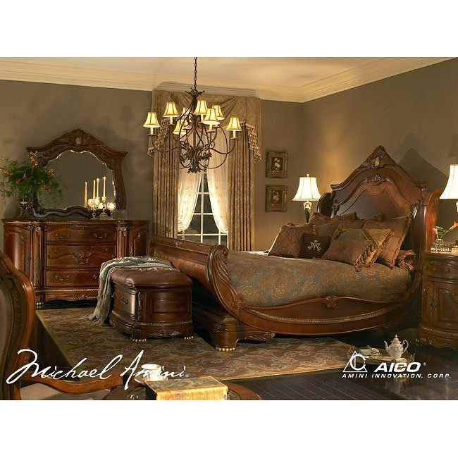Best Cortina Sleigh Bedroom Set Aico Furniture 3 Reviews With Pictures