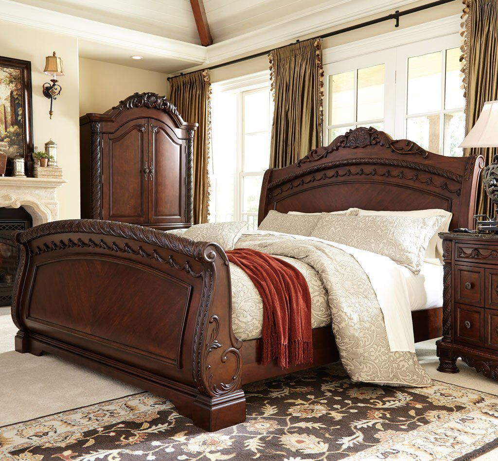 Best North Shore Sleigh Bedroom Set Millennium 4 Reviews Furniture Cart With Pictures