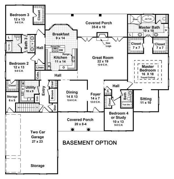 Best The Hatten 5714 4 Bedrooms And 3 5 Baths The House Designers With Pictures
