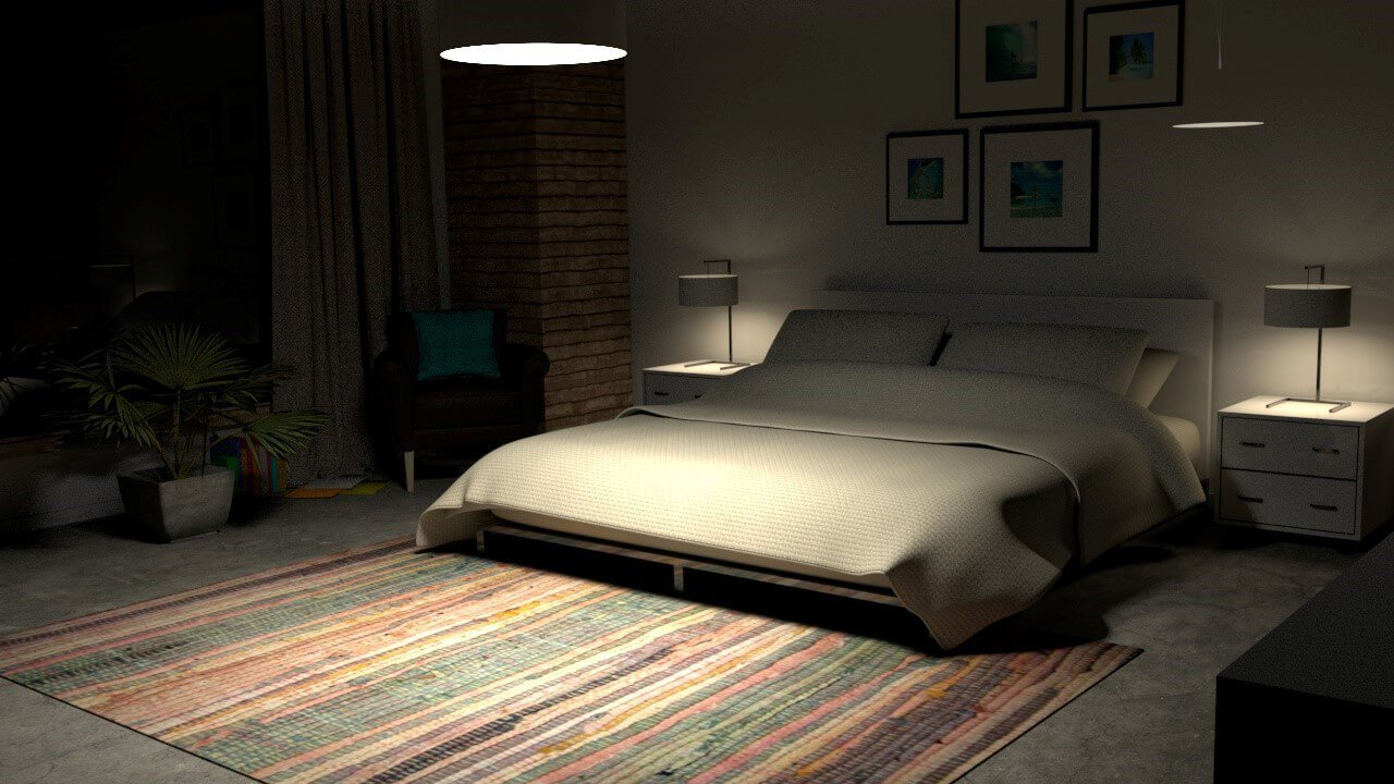 Best Free Cinema 4D 3D Model Interior Bedroom Scene For Arnold With Pictures