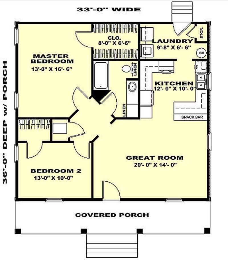 Best Country House Plan 2 Bedrms 1 Baths 1007 Sq Ft 123 With Pictures