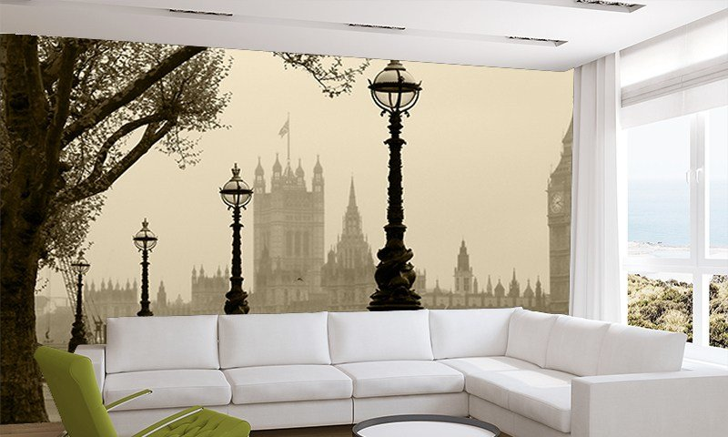 Best Foggy London Wall Mural Uk Wall Murals Wallpaper Ink With Pictures