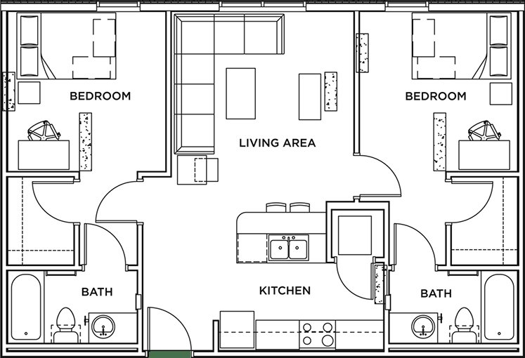 Best 2 Bed 2 Bath Apartment Wait List The Callaway House With Pictures